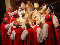 Episcopal consecration of the 8th bishop of Northern Indiana in 2016 by the laying on of hands