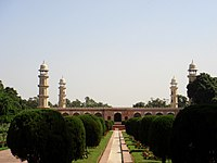 Tomb of Jahangir with minarets