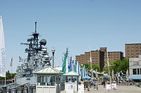View of Canalside and Buffalo Naval Park
