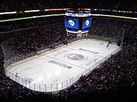 KeyBank Center, in Downtown Buffalo, has been home of the Sabres since 1996