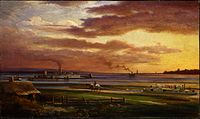 Buffalo harbor from the foot of Porter Avenue, 1871