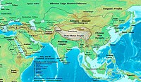 Asia in 200 BC, showing the early Xiongnu state and its neighbors