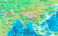 Southern and Northern Xiongnu in 200 AD, before the collapse of the Han Dynasty.