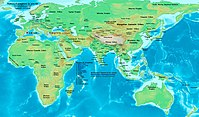 Location of Xiongnu and other steppe nations in 300 AD.