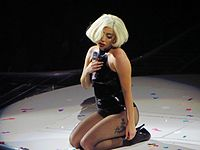 Gaga performing on the ArtRave: The Artpop Ball tour in 2014