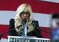 "Gaga speaking against ""don't ask, don't tell"" in Portland, Maine (2010)"