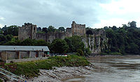 Chepstow Castle in Wales, built by William fitzOsbern in 1067