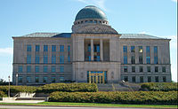 The Iowa Supreme Court, across from the capitol, is the state's highest court.