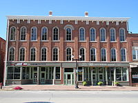 The Union Block building, Mount Pleasant, scene of early civil rights and women's rights activities