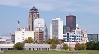 Skyline of Des Moines, Iowa's capital and largest city