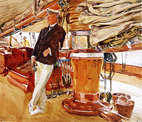 On Deck of the Yacht Constellation, John Singer Sargent