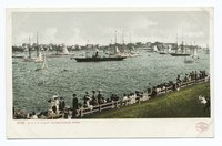 Marblehead Harbor with yachts