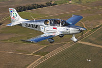 The prototype Sling 4 Light Sport Aircraft on arrival at Stellenbosch, Western Cape, South Africa