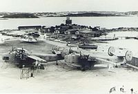 RAF Darrell's Island during World War II. This base was used throughout the war for trans-Atlantic ferrying of aircraft.