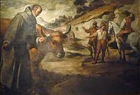 Saint Francisco Solano and the Bull, by Murillo
