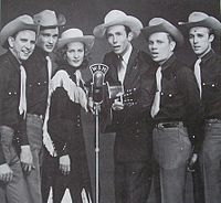 Hank Williams, Audrey Sheppard Williams and the Drifting Cowboys band in 1951