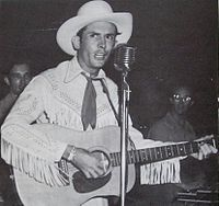 Hank Williams in concert in 1951