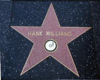 Hank Williams' star at 6400 Hollywood Boulevard, on the Hollywood Walk of Fame