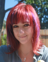 Lauren Faust 2014 with SPFF Figures; Faust was the creator of My Little Pony: Friendship is Magic.