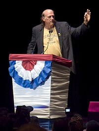 Ventura orating at the Rally for the Republic in 2008