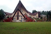 The Catholic Cathedral in Kohima City. About 45% of Nagaland people are Baptists.