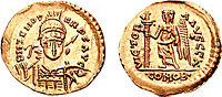 Solidus minted under Odoacer with the name and portrait of the Eastern Emperor Zeno