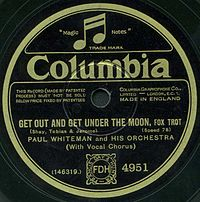 The British label of an electrically recorded Columbia disc by Paul Whiteman