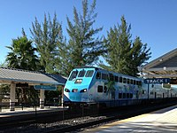 Tri-Rail is Miami's commuter rail that runs north–south from Miami's suburbs in West Palm Beach to Miami International Airport.