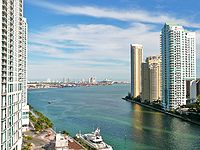The mouth of the Miami River at Brickell Key