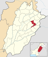 Location of Nankana Sahib in Punjab, Pakistan, that was proposed as the capital of Khalistan by ZA Bhutto.