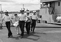 Irish Naval Service recovering bodies from the Air India Flight 182 bombing