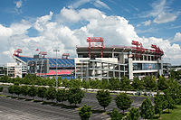 Nissan Stadium, home of the Tennessee Titans and Nashville SC