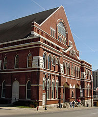 """Ryman Auditorium, the """"Mother Church of Country Music"""""""