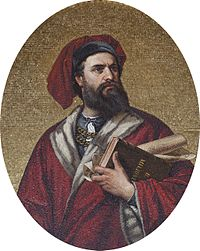 Marco Polo, explorer of the 13th century, recorded his 24 years-long travels in the Book of the Marvels of the World, introducing Europeans to Central Asia and China.