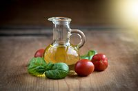 Olive oil and vegetables are central to the Mediterranean diet.