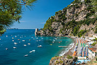 The Amalfi Coast, a UNESCO World Heritage Site, is one of Italy's major tourist destinations.