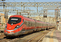 FS' Frecciarossa 1000 high speed train, with a maximum speed of 400 km/h, is the fastest train in Italy and Europe.