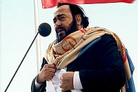 """Luciano Pavarotti, considered one of the finest tenors of the 20th century and the """"King of the High Cs""""."""