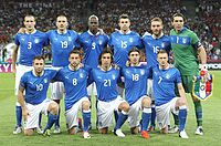 The Azzurri in 2012. Football is the most popular sport in Italy