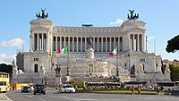 The Victor Emmanuel II Monument in Rome, a national symbol of Italy celebrating the first king of the unified country, and resting place of the Unknown Soldier since the end of World War I