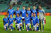 The Azzurri, here players of 2012, is the men's national football team.