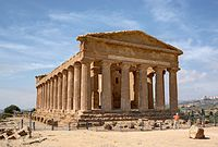 The temple of Concordia in Agrigento