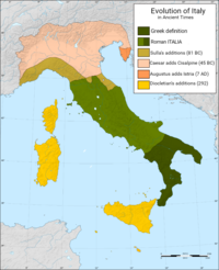 Evolution of Italy in ancient times