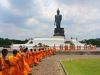 Samanera of Theravada Buddhism, the most practised religion in Thailand.