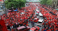 United Front for Democracy Against Dictatorship, Red Shirts, protest in 2010