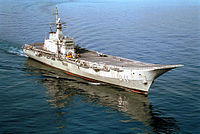 The HTMS Chakri Naruebet, an aircraft carrier of the Royal Thai Navy