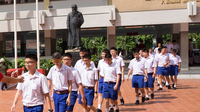 Thailand is a country where school uniform is still mandatory.