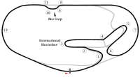 Map of the 24-hour road course configuration