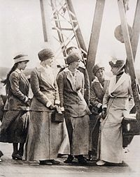 Grand Duchesses Anastasia, Tatiana, Maria, and Olga with Empress Alexandra on an official visit to Sevastopol in 1916. Courtesy: Beinecke Library.