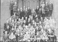 The 1911 student body of the Hopkins School, the fifth-oldest educational institution in the United States